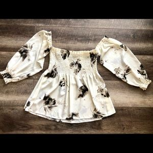 Express Woman Blouse Floral Size Small